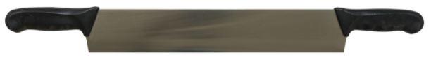 double handle knife