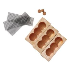 three hole wooden queen cages