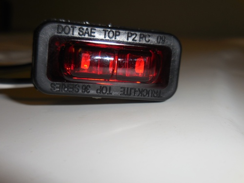 LED RED MARKER /CLEAR 36 SERIES