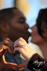 kissing and showing ring
