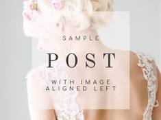 Sample post with image aligned left