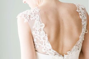 back of a wedding dress