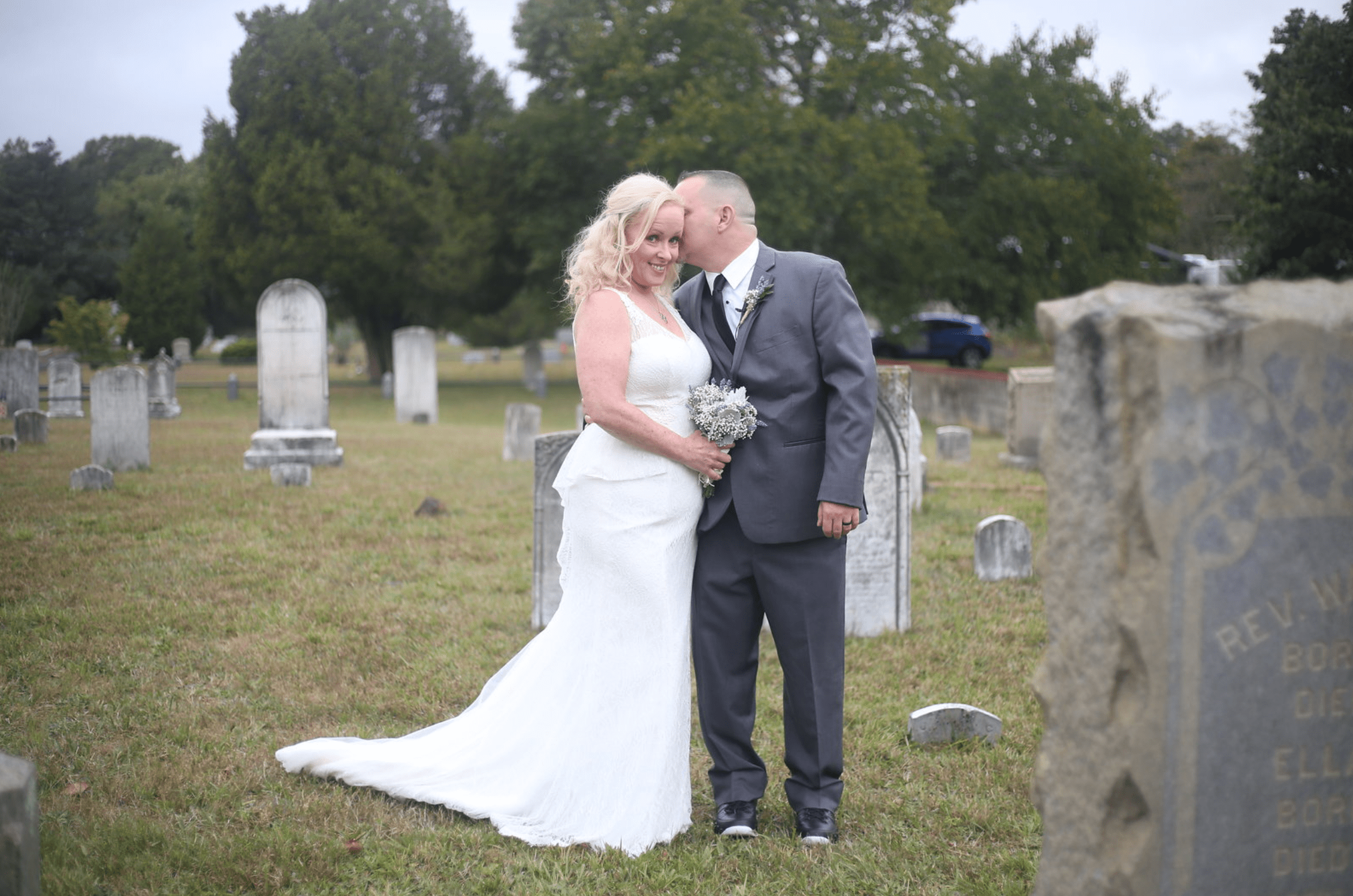 graveyard wedding
