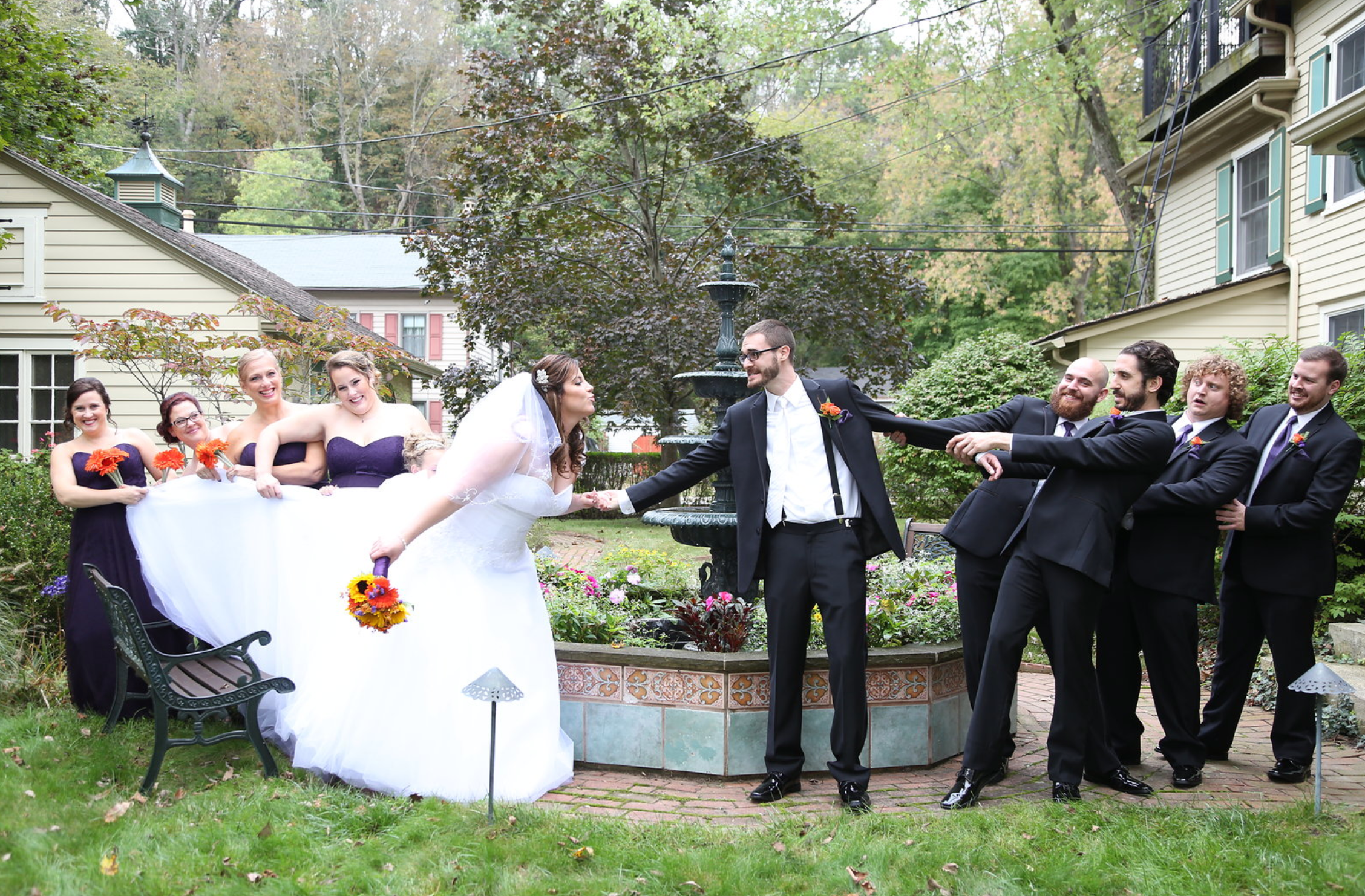 wedding funny bridal party photo