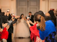 taking pictures of bride