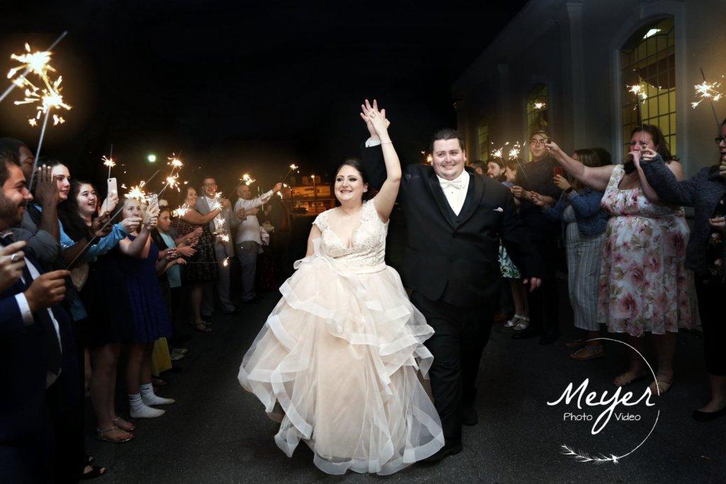 wedding sparklers night time nj