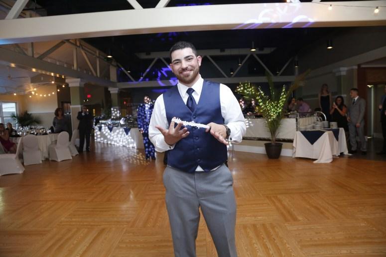 groom with garter