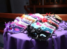 masks on a table