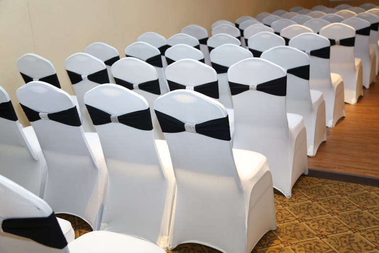 the details of the chairs i the ceremony room