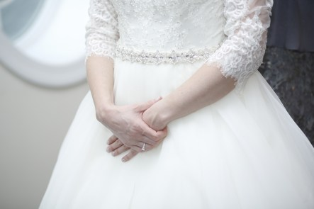 details of wedding dress