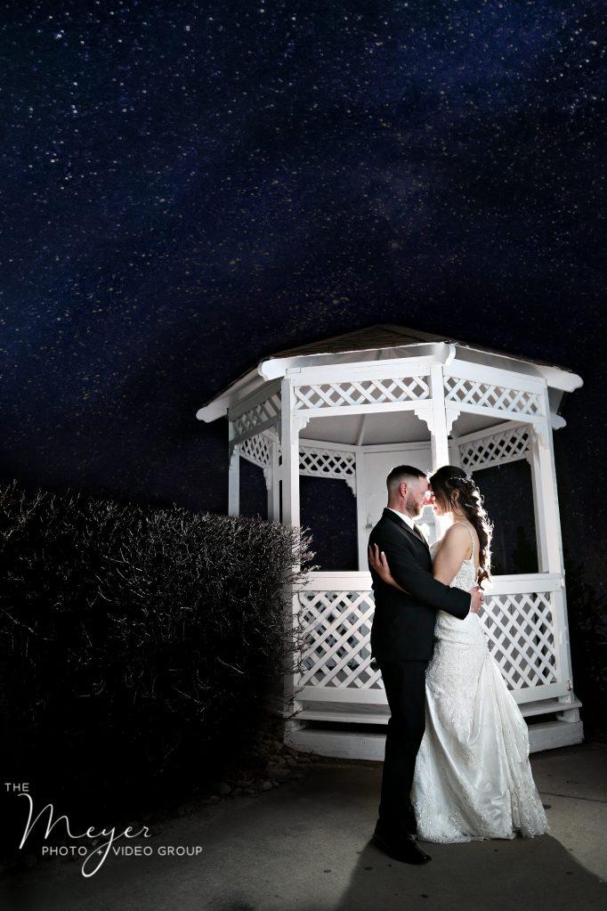 versailles ballroom night wedding photo