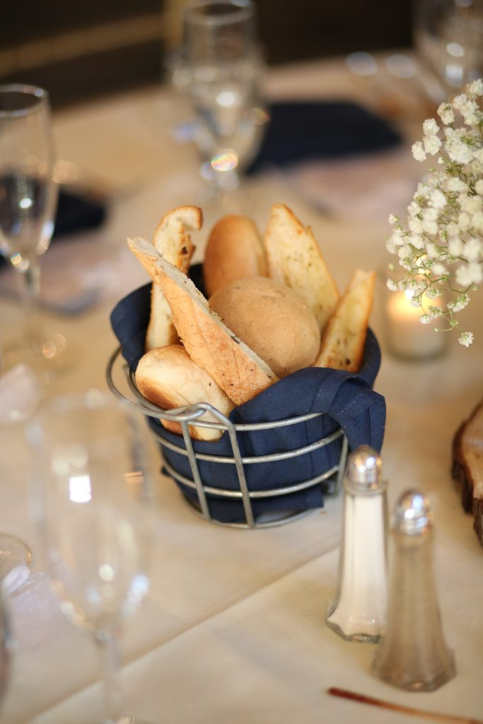 breadsticks in a basket at wedding in 2019