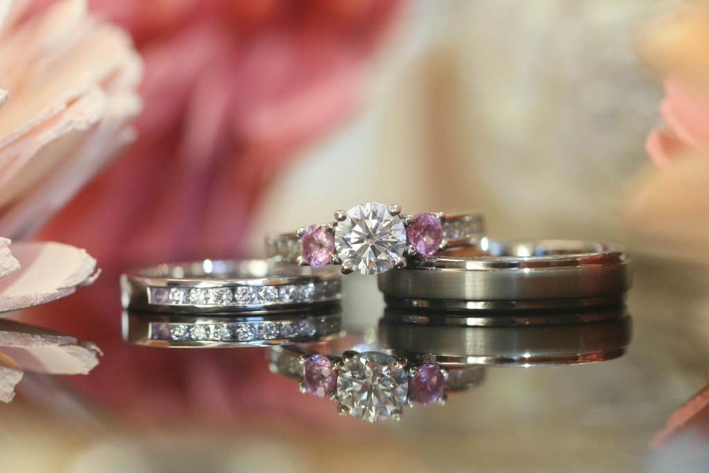wedding rings at wedding in 2019