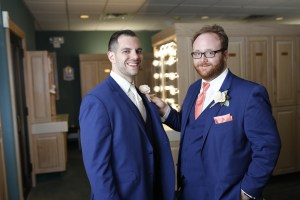 groom and best man at wedding in 2019