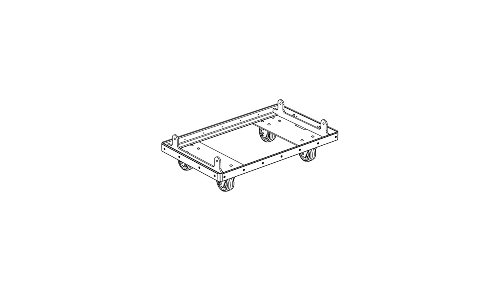 hight resolution of caster frame kit used to transport up to 4 lyon highpart number 40 232 045 01