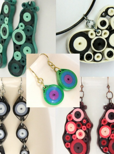 Tutorial For Paper Quilled Jewelry PDF Retro Circles