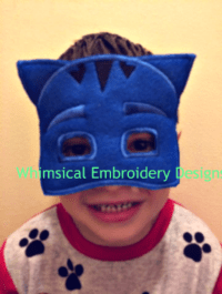Catboy PJ Mask In the Hoop Mask Machine Embroidery Design ...