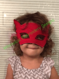 Owlette PJ Mask In the Hoop Mask Machine Embroidery Design ...