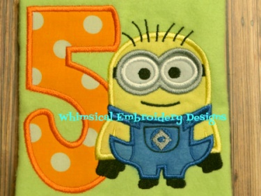 Applique Minions With Numbers 1 9 Applique Machine