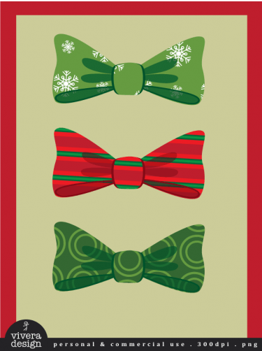 Digital Clip Art Christmas Bows 20 Bows With Christmas