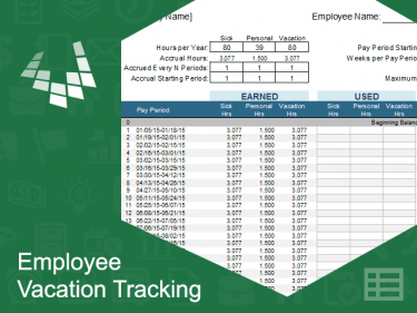 When calculating an hourly rate do i include vacation & sick time?. Employee Vacation Tracking Template Meylah