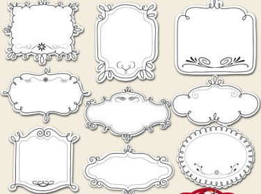 BUY2 GET1 FREE Doodle Tags And Frames Clipart Meylah
