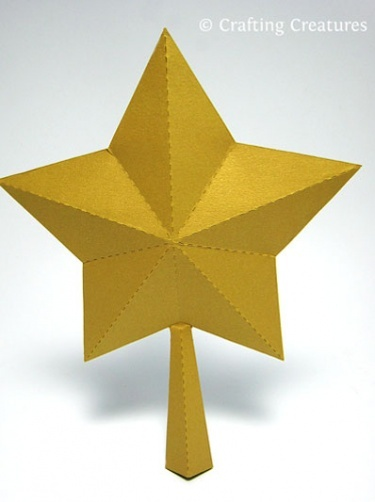 3D Paper Star for Xmas Tree Topper FREE SVG DXF PDF