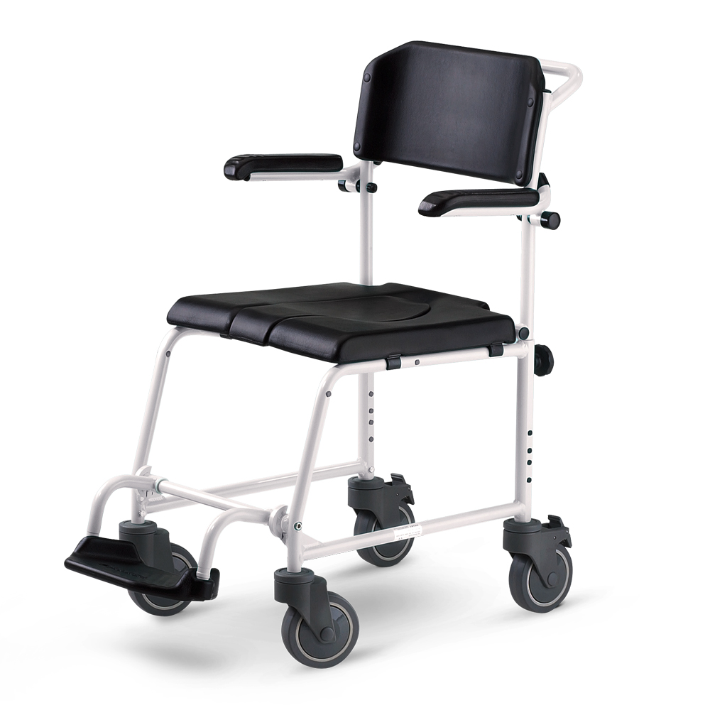 Mobile Chair Mcwet Mobile Shower Chair And Commode 5