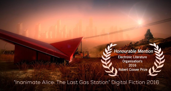 """Inanimate Alice: The Last Gas Station"" Digital Fiction 2016"