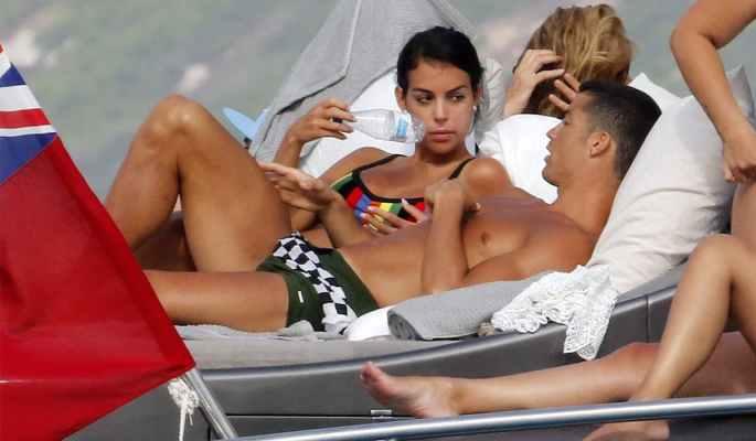 Ronaldo and girlfriend Georgina Rodriguez