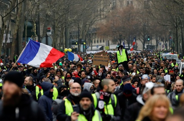 """Demonstration by the """"Yellow vests"""" movement in Paris"""