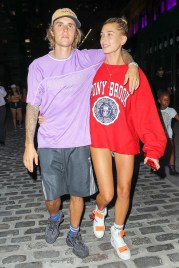 Justin Bieber and Hailey Baldwin were spotted hugging as leaving the movie theatre in New York City Pictured: Justin Bieber and Hailey Baldwin Ref: SPL5012590 260718 NON-EXCLUSIVE Picture by: Felipe Ramales / SplashNews.com Splash News and Pictures Los Angeles: 310-821-2666 New York: 212-619-2666 London: 0207 644 7656 Milan: +39 02 4399 8577 Sydney: +61 02 9240 7700 photodesk@splashnews.com World Rights,