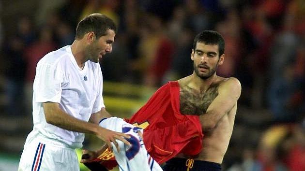 Zinedine Zidane and Pep Guardiola 1