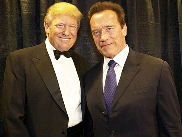 Arnold Schwarzenegger and Donald Trump 1