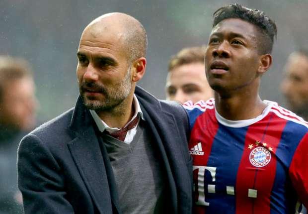 Pep Guardiola and David Alaba