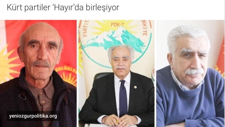 Kürt partiler 'Hayır'da birleşiyor