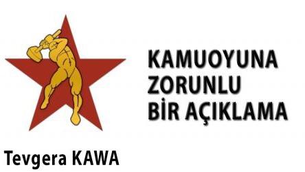 KAWAHareketin den Rojava için çağrı : ROJAVA KÜRDİSTANI'NIN ETRAFINDA KENETLENELİM!