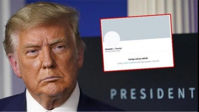 Twitter Trump'ın hesabını kalıcı olarak askıya aldı