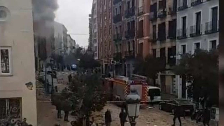 Madrid'de şiddetli patlama: 2 ölü, 6 yaralı