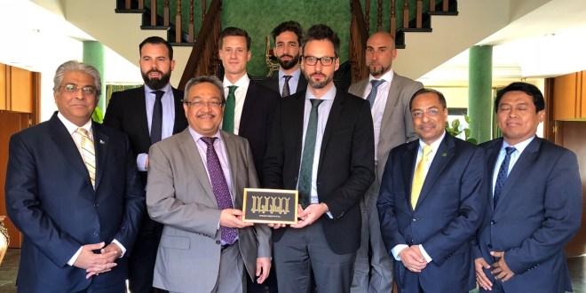 Comida con los Embajadores de Malasia, Pakistan, Bangladesh e Indonesia
