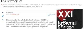 El ayuntamiento paraliza el proyecto de la mezquita de Sevilla