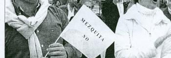 Manifestación en contra de la Mezquita de Los Bermejales