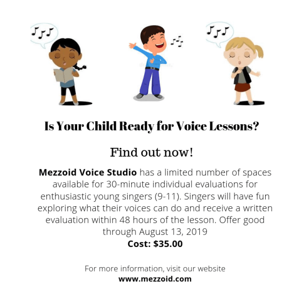 Is your child READY for voice lessons?