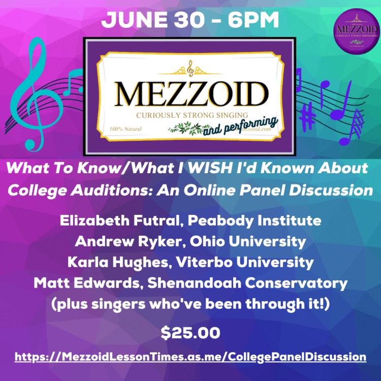 College Audition Panel Discussion