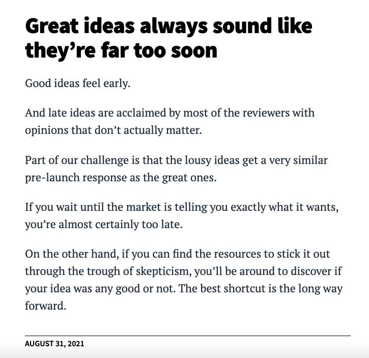 Seth Godin text