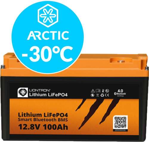 Liontron LiFePO4 LX Smart BMS 12.8V 100Ah Arctic 3