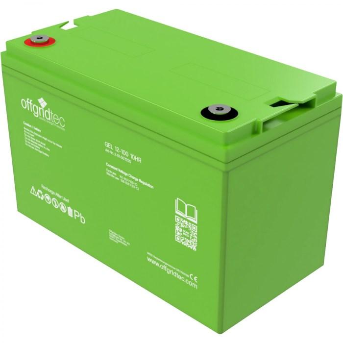 Offgridtec Gelbatterie 12V 100Ah 1