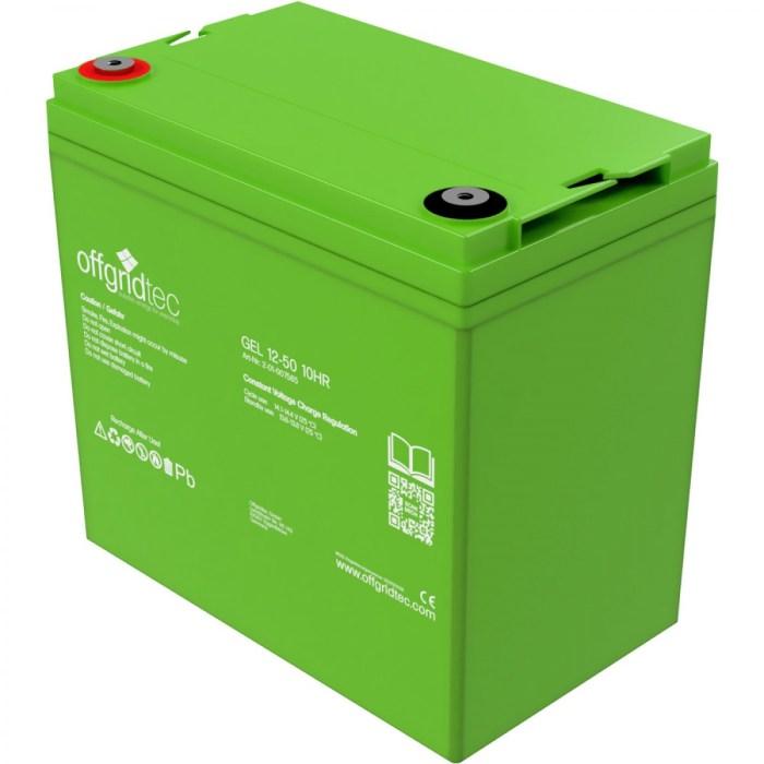 Offgridtec Gelbatterie 12V 50Ah 1