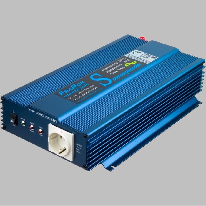 12V Wechselrichter reiner Sinus 1200W mit Fernbedienung 1