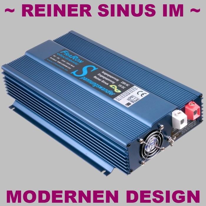 12V Wechselrichter reiner Sinus 1200W mit Fernbedienung 2